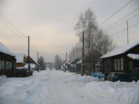 Udmurtia, winter street